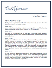 Relaxation Recipe Page 1 Image